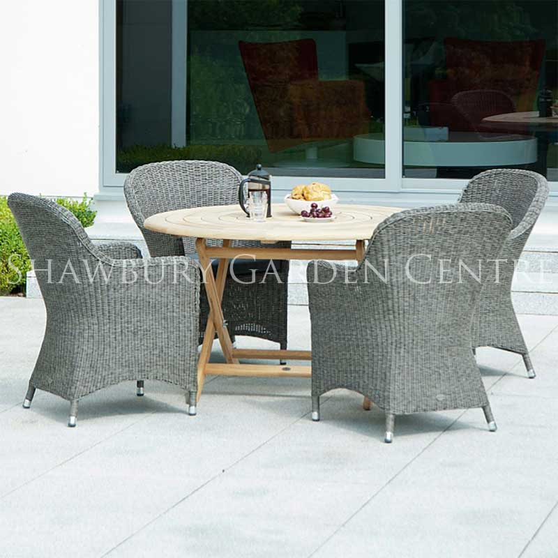 Picture of Alexander Rose Monte Carlo & Roble 4-Seater Garden Furniture Set