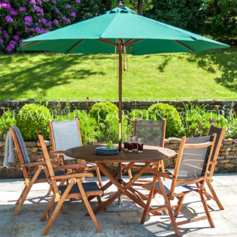 Picture of Alexander Rose Cornis Six Seater Folding Garden Furniture Set
