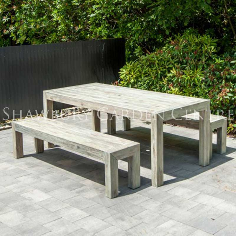Picture of Alexander Rose Distressed Acacia Garden Furniture Set