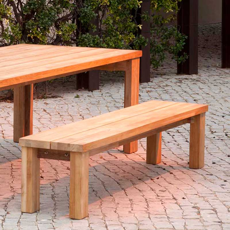 Picture Of Barlow Tyrie Rustic Teak Titan Backless Bench 200