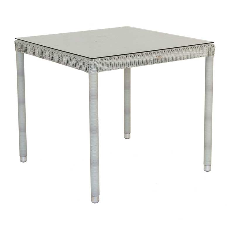 Picture of Alexander Rose Classic Weave Square Table with Glass Top