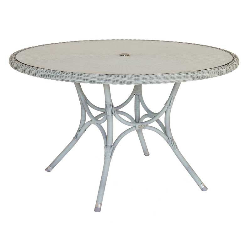 Picture of Alexander Rose Classic Weave Round Table with Glass Top: 1.25m