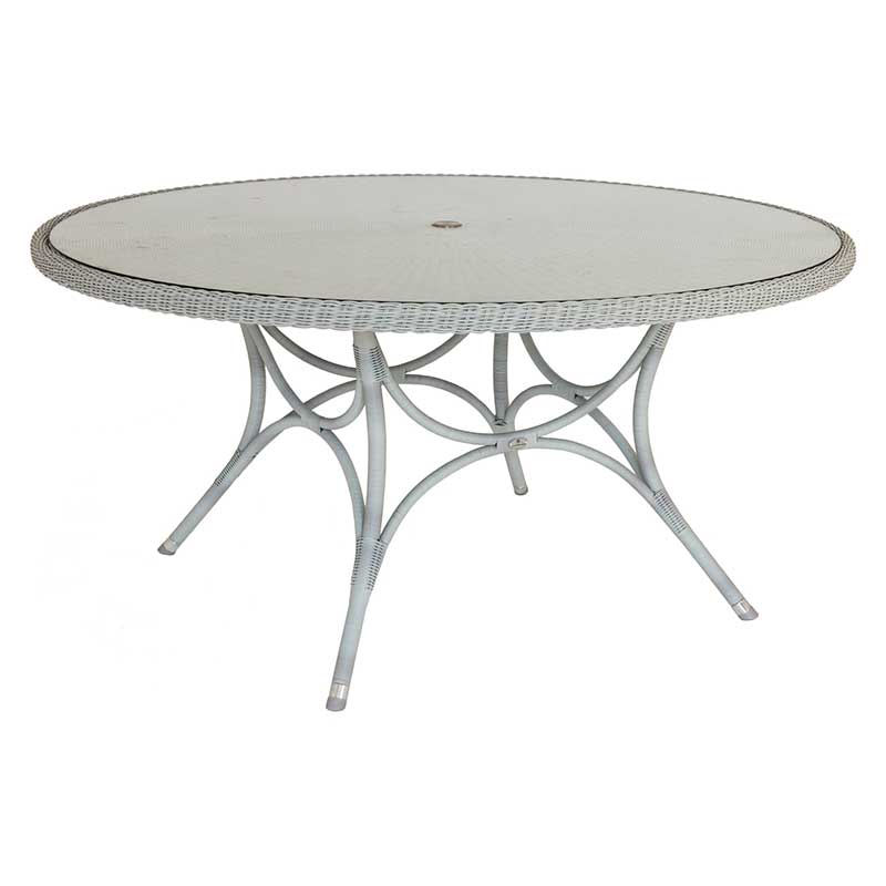Picture of Alexander Rose Classic Weave Round Table with Glass Top: 1.55m