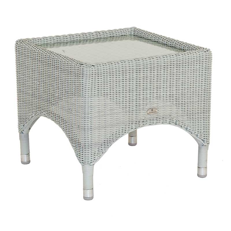 Picture of Alexander Rose Classic Weave Side Table with Glass Top