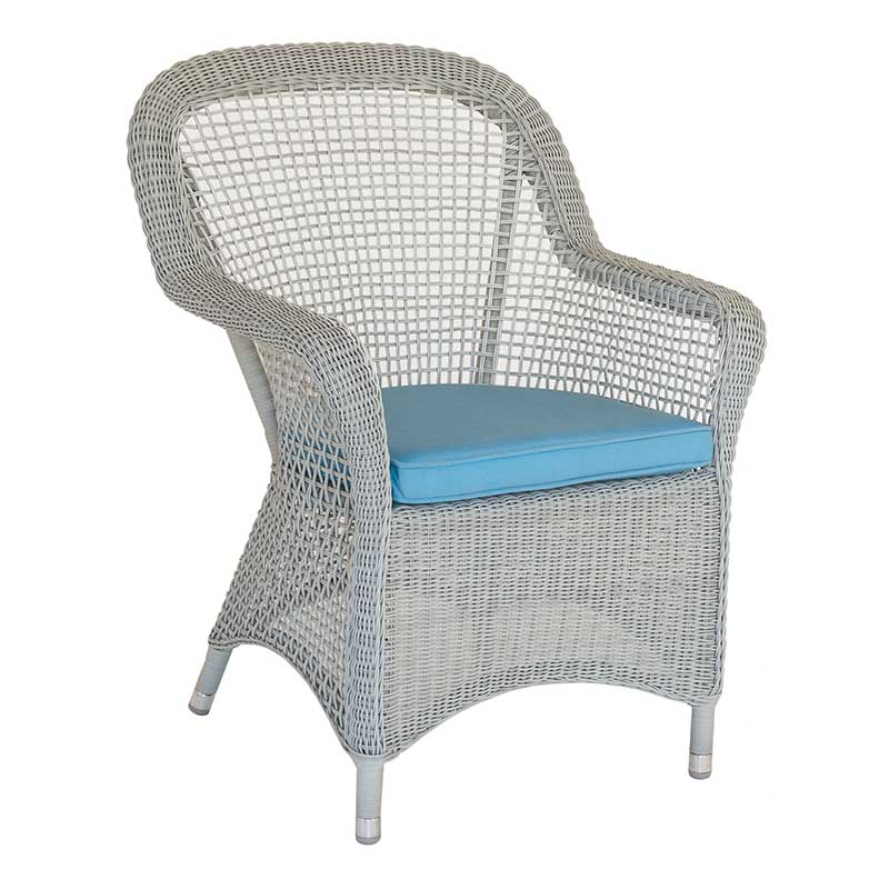 Picture of Alexander Rose Classic Open Weave Armchair with Cushion