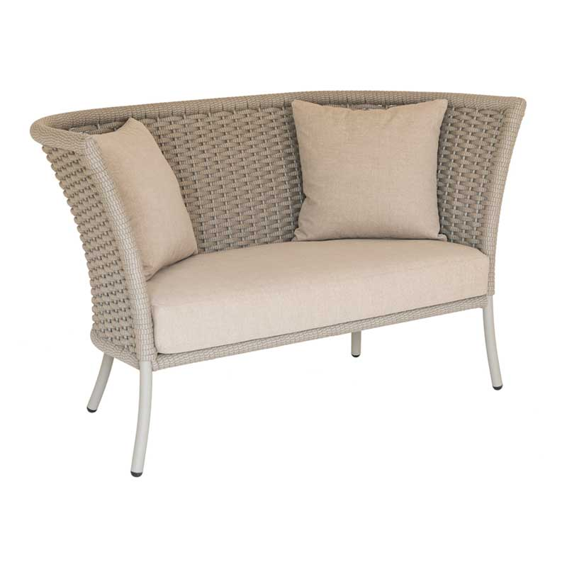 Picture of Alexander Rose Cordial Lounge Sofa (Straight Top) Beige Rope