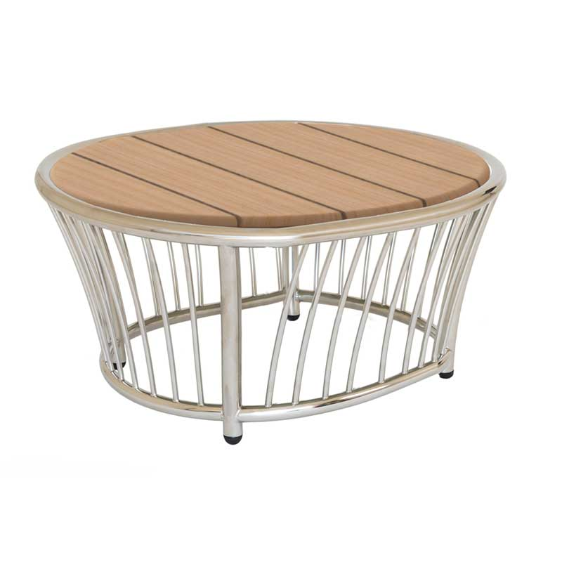 Picture of Alexander Rose Cordial Lounge Stainless Steel Round Side Table