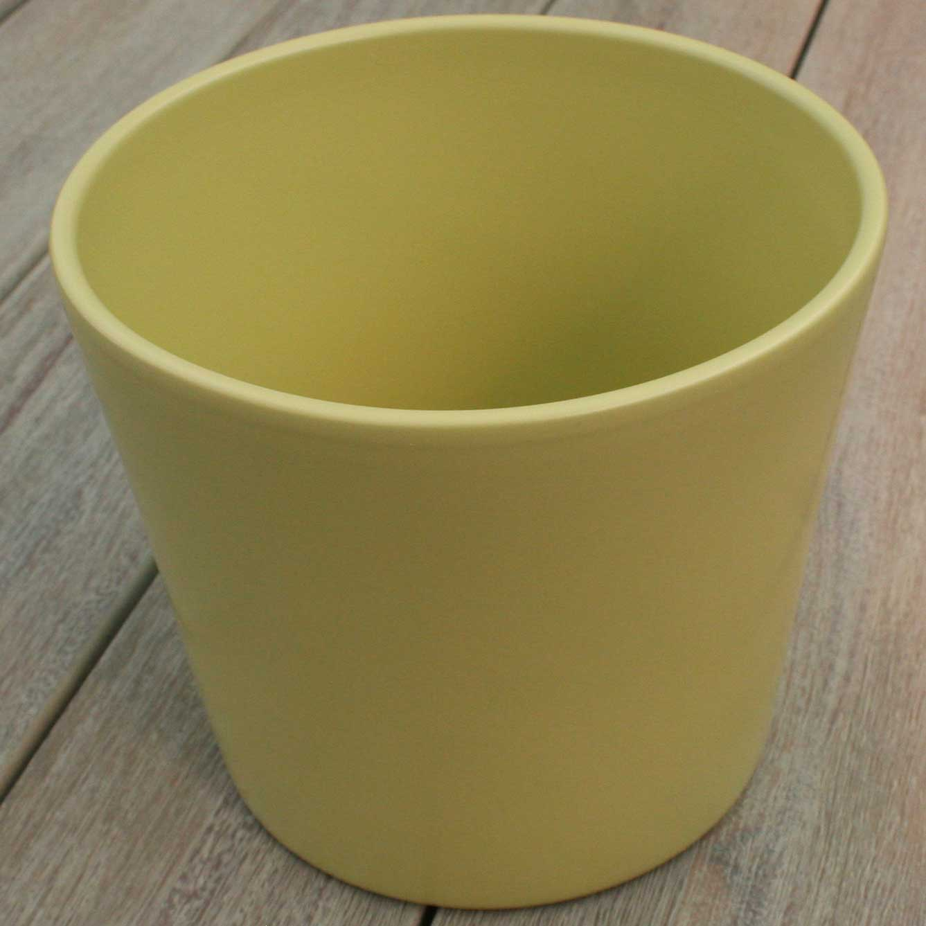 Picture of Ivyline Matt Green Ceramic Plant Pot Cover