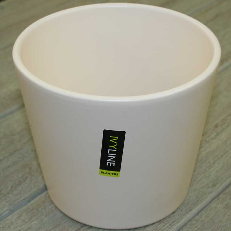 Picture of Ivyline Matt Ivory Ceramic Plant Pot Cover