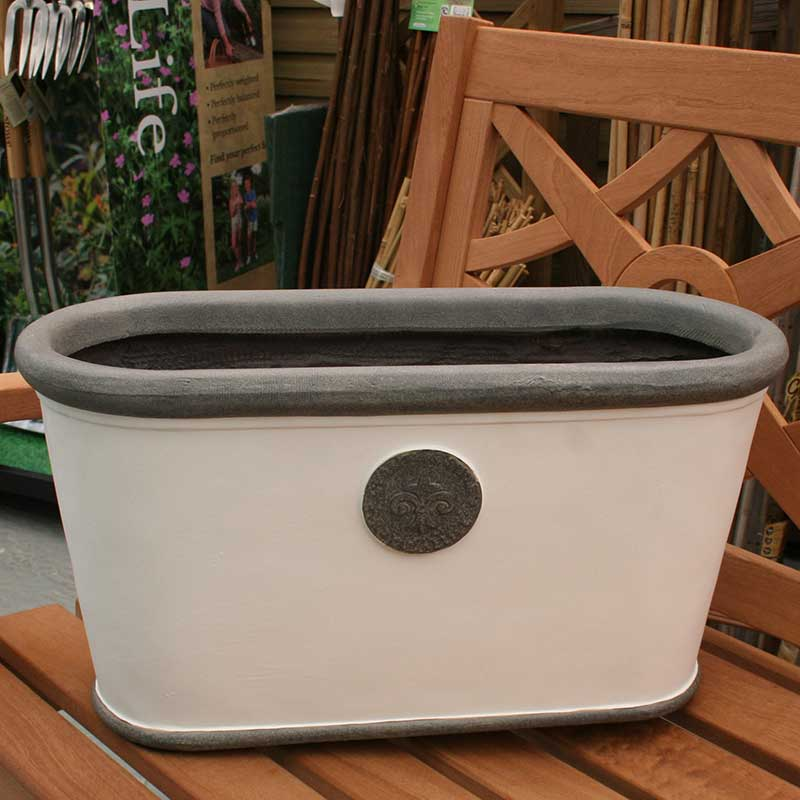 Picture of Ivyline Fibre Clay Oval Planter