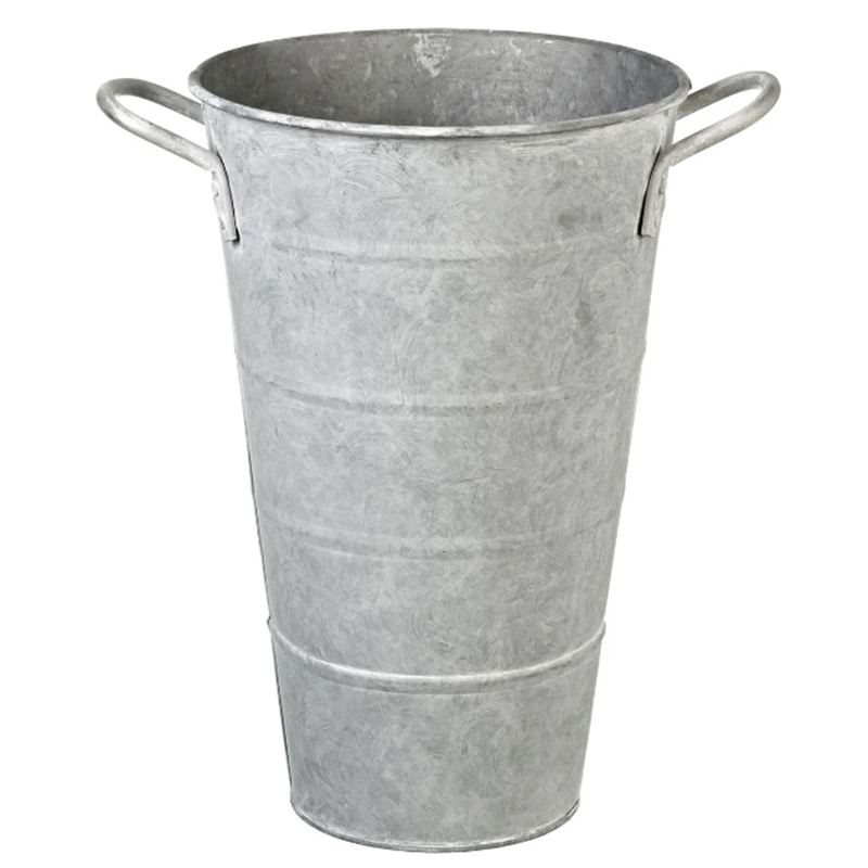 Picture of Parlane Grey Washed Zinc Flower Bucket