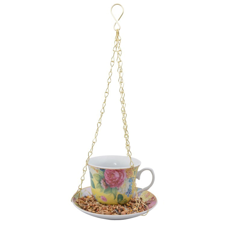 Picture of Fallen Fruits Hanging Tea Cup & Saucer Bird Feeder