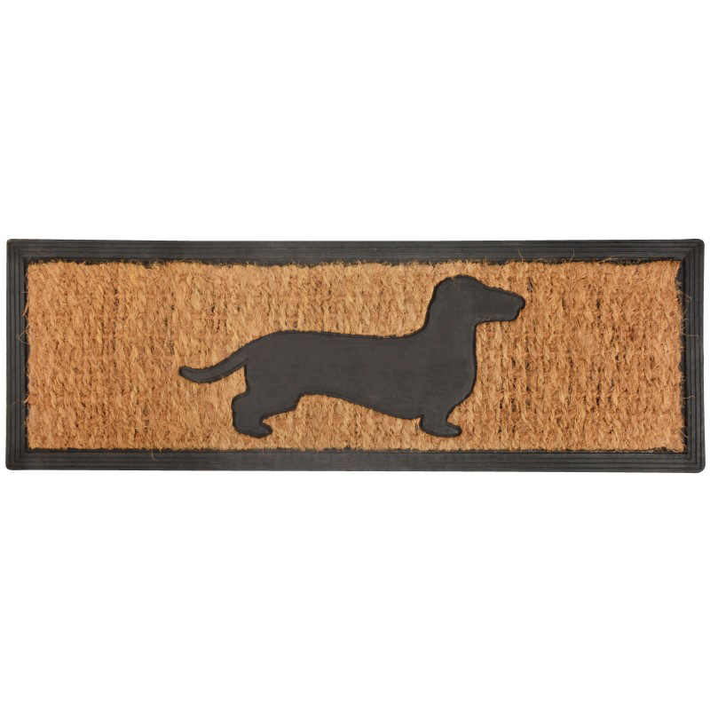 Picture of Fallen Fruits Dachshund Silhouette Rubber & Coir Doormat