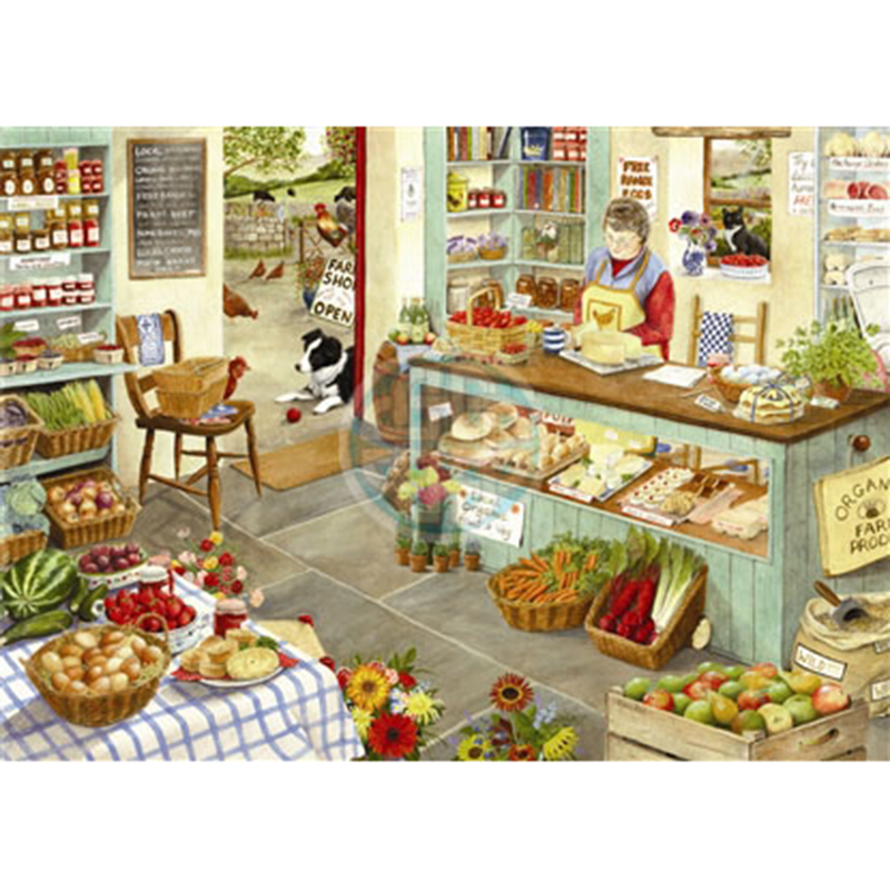 Picture of House of Puzzles 'Farm Shop' Jigsaw
