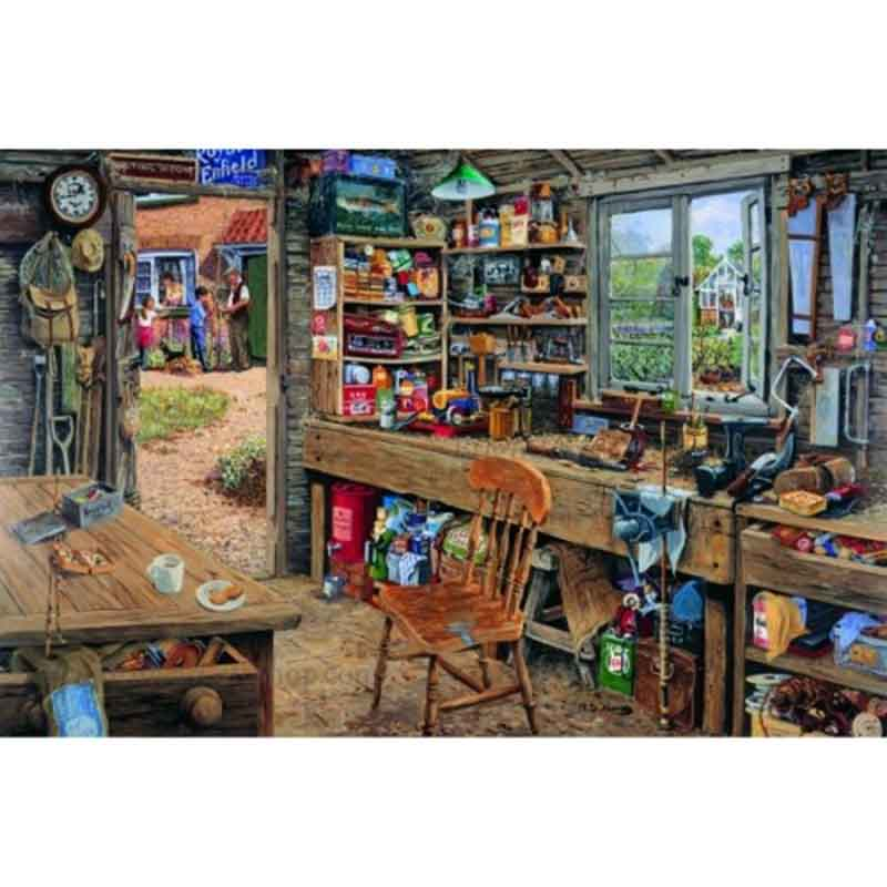 Picture of House of Puzzles 'Dad's Shed' Jigsaw