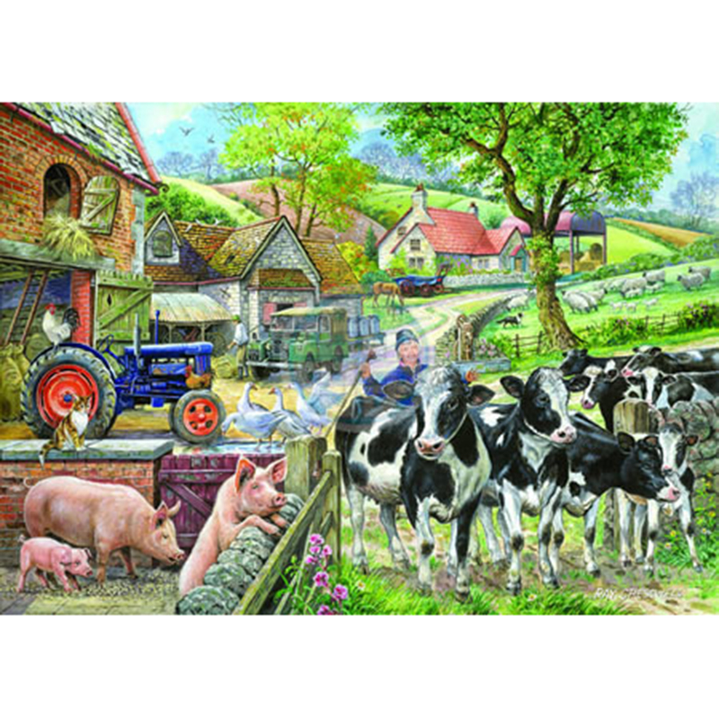 Picture of House of Puzzles 'Oak Tree Farm' Jigsaw