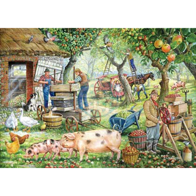 Picture of House of Puzzles 'Cider Makers' Jigsaw