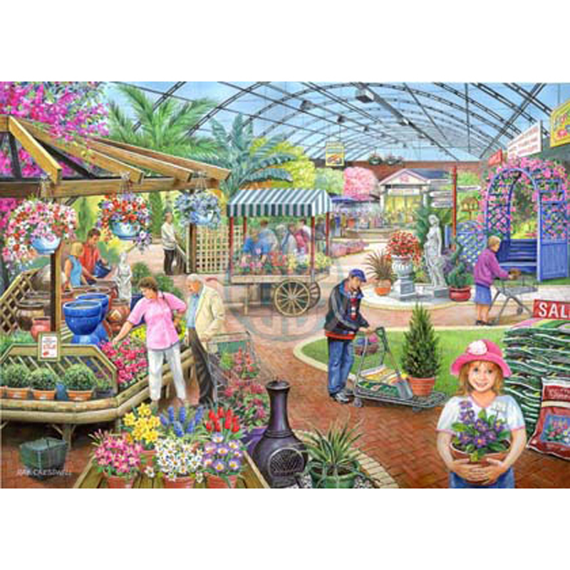 Picture of House of Puzzles 'At The Garden Centre' Jigsaw