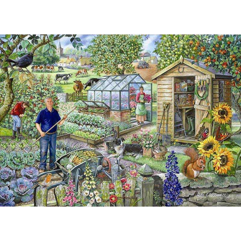Picture of House of Puzzles 'At The Allotment' Jigsaw