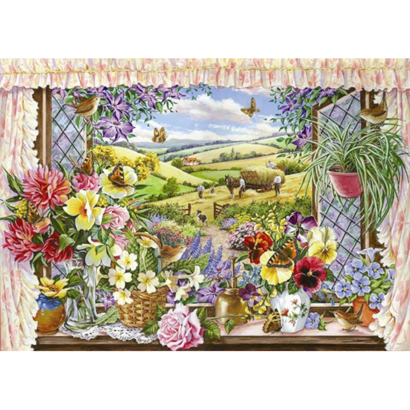 Picture of House of Puzzles 'Harvest View' Jigsaw