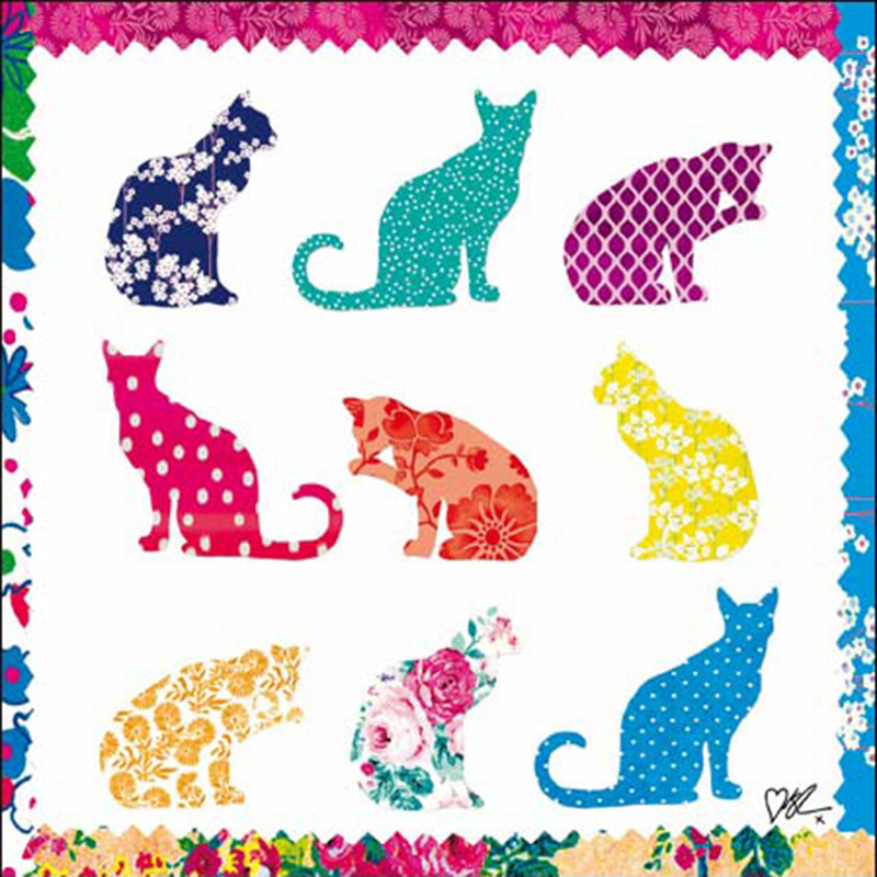 Picture of Kirstie Allsopp Greetings Card - Multi Col Cats