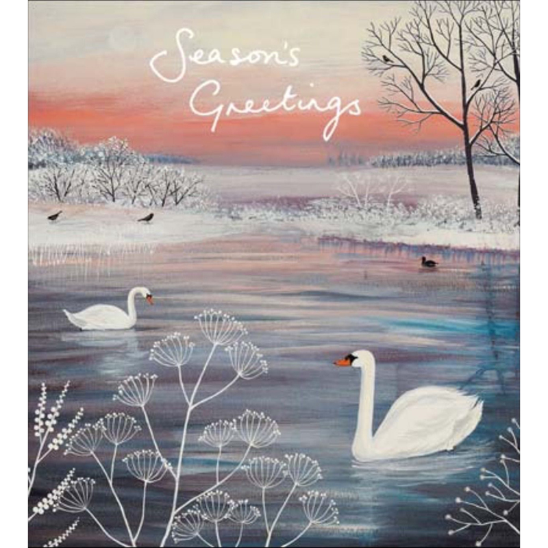Picture of Woodmansterne Charity 'Swan Lake' Christmas Greetings Cards
