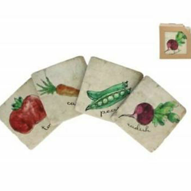 Picture of Gisela Graham Vegetable Resin Coasters