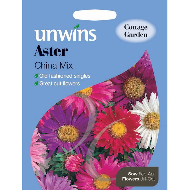 Picture of Unwins Unwins Aster 'China Mix' Seeds