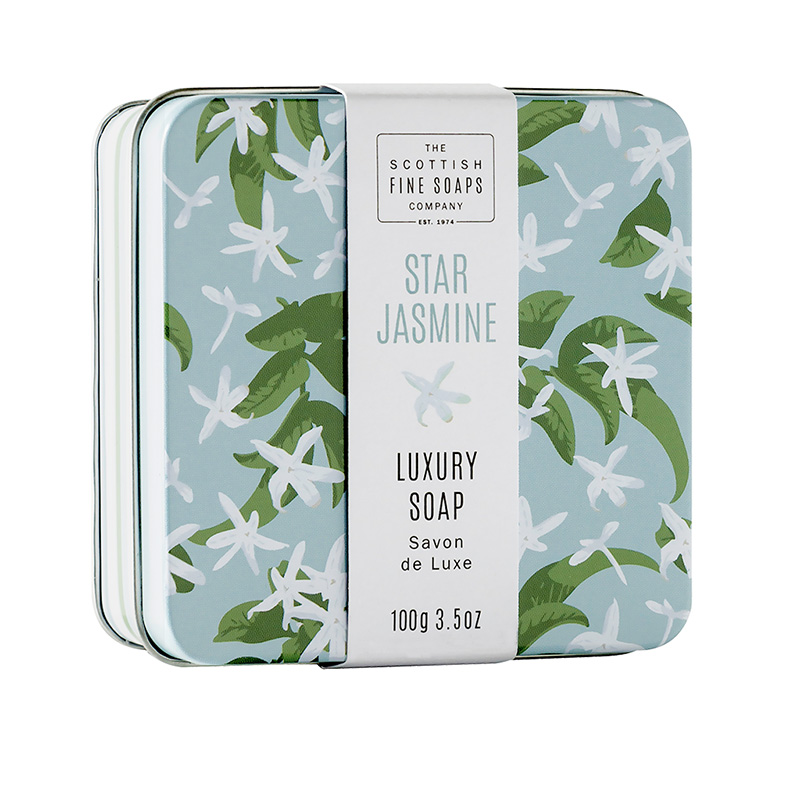 Picture of Scottish Fine Soaps Floral Soap in a Tin - Jasmine