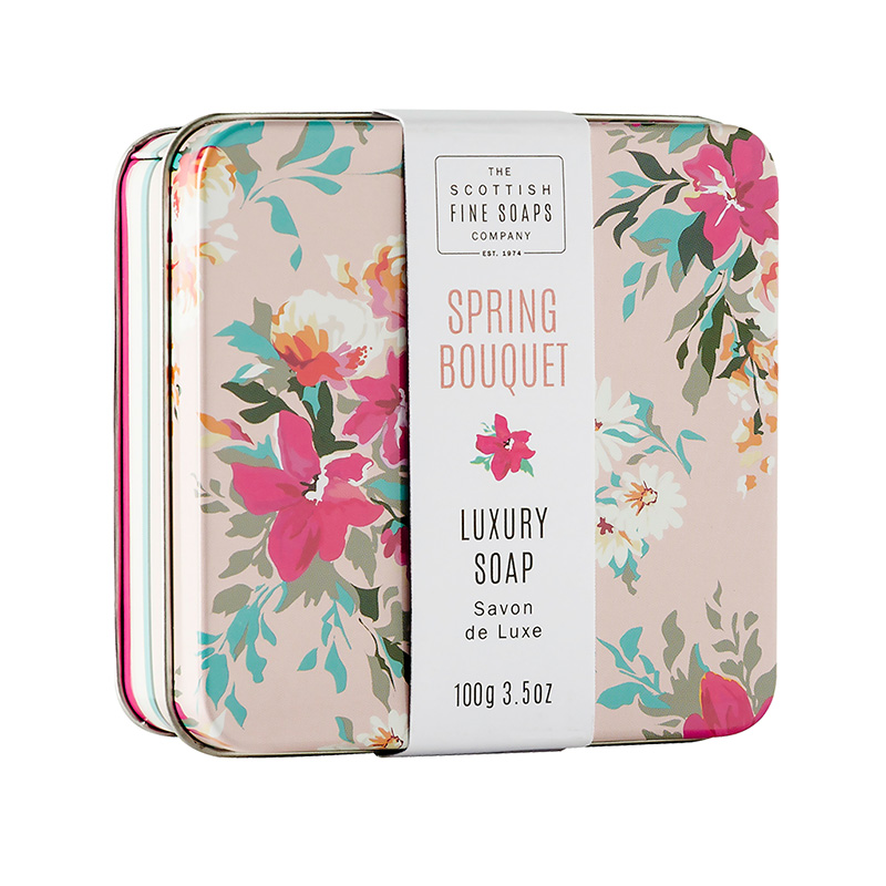 Picture of Scottish Fine Soaps Floral Soap in a Tin - Spring Bouquet