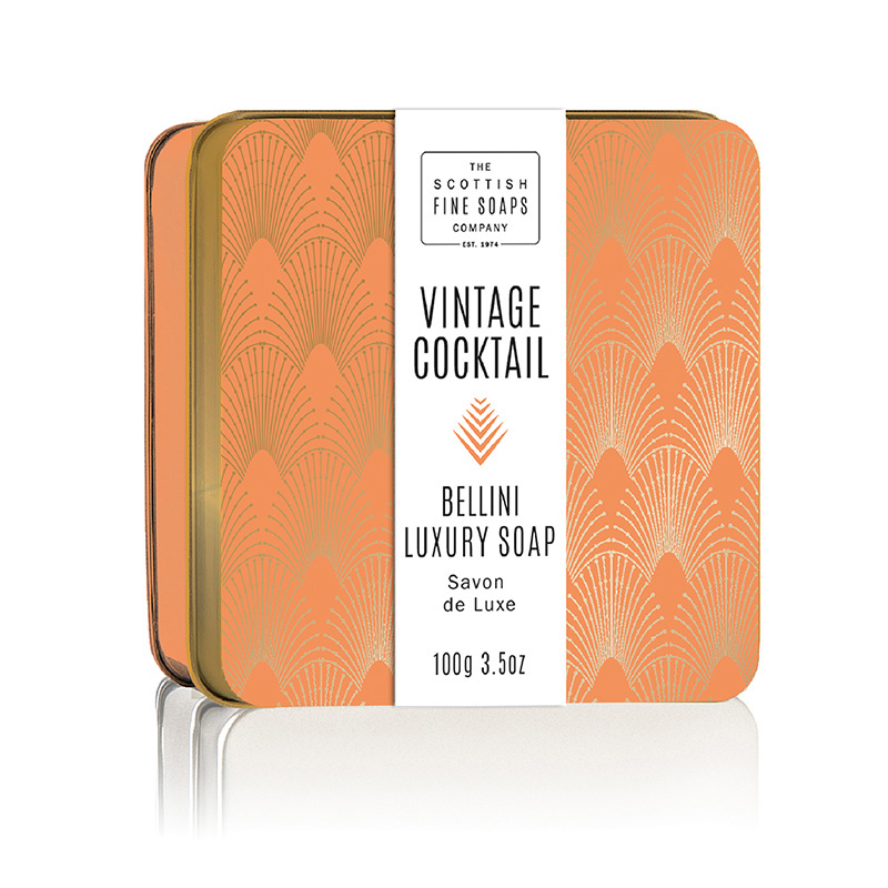 Picture of Scottish Fine Soaps Vintage Cocktail Soap in a Tin - Bellini