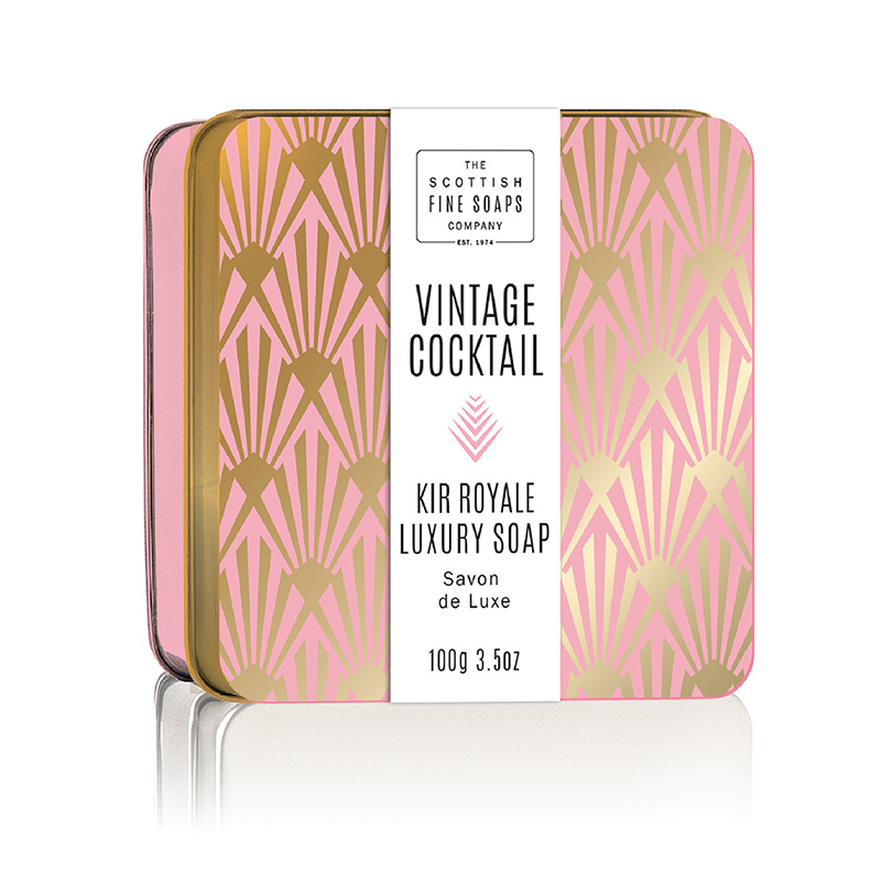 Picture of Scottish Fine Soaps Vintage Cocktail Soap in a Tin - Kir Royale