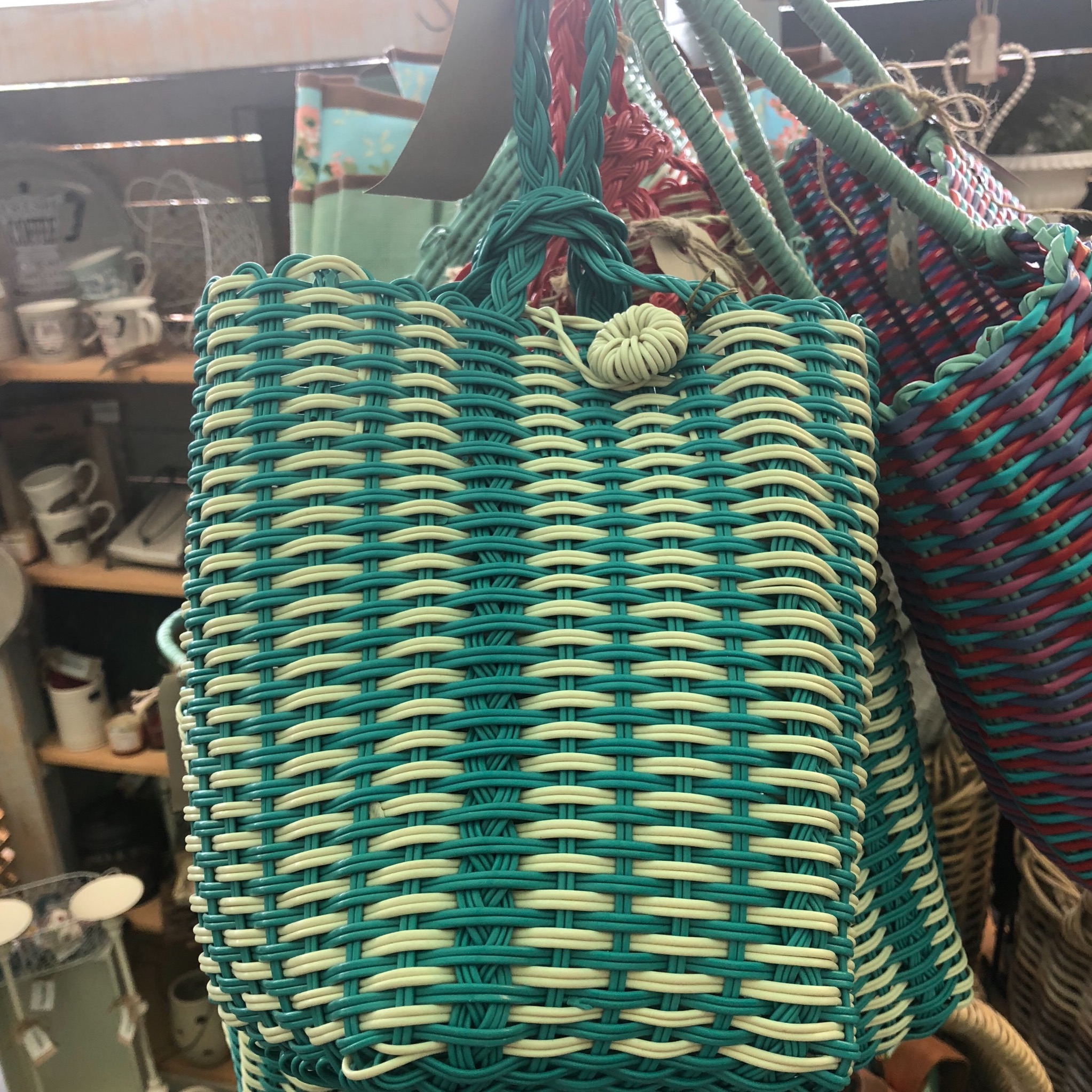 Picture of Turquoise Woven Bag