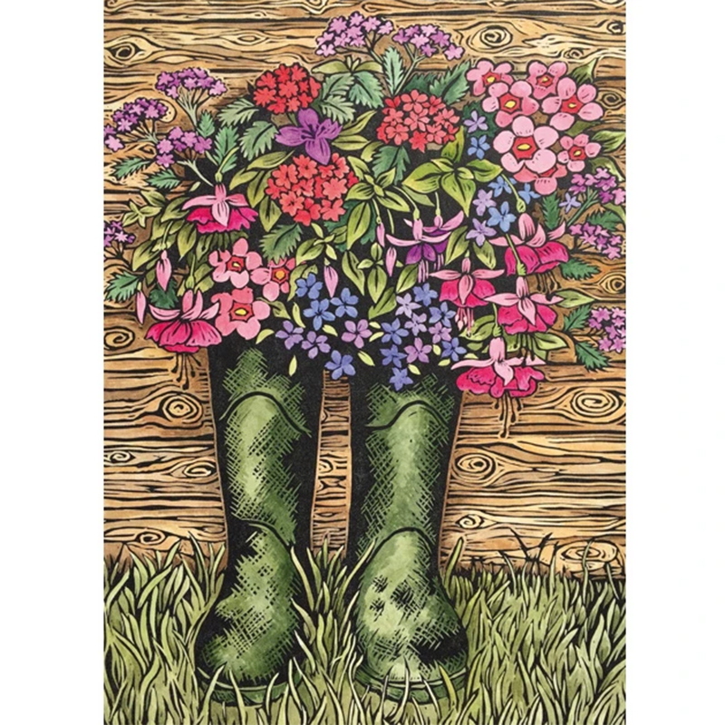 Picture of 'Dad's Old Wellington Boots' blank card