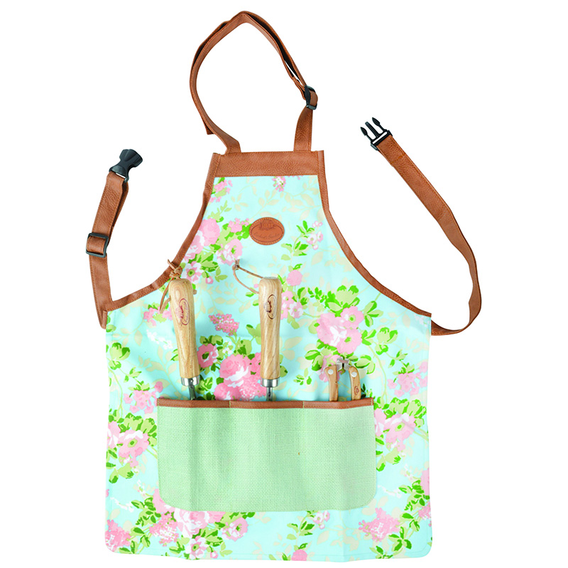 Picture of Fallen Fruits Rose Print Garden Apron