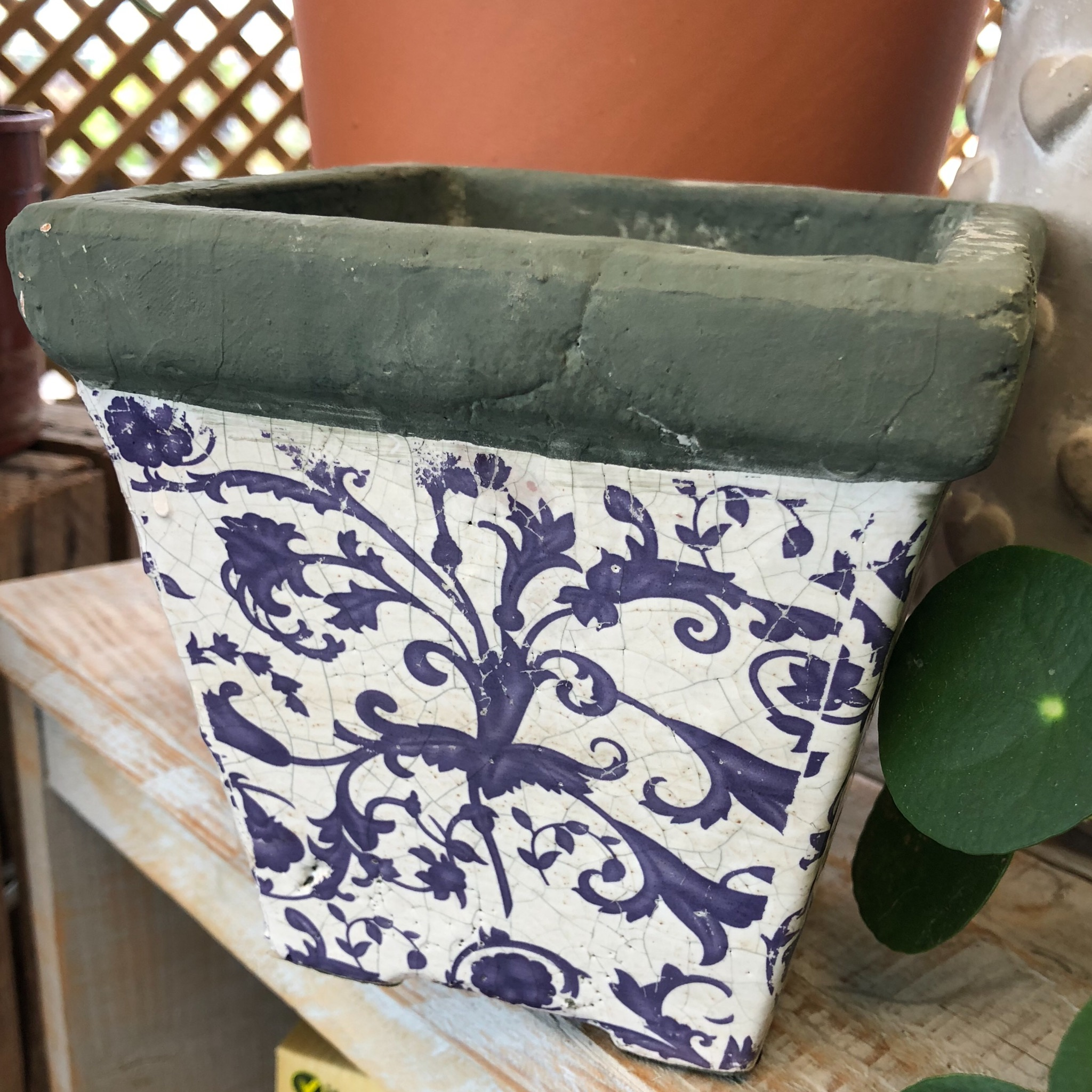 Picture of Fallen Fruits Vintage Style Blue & White Pot