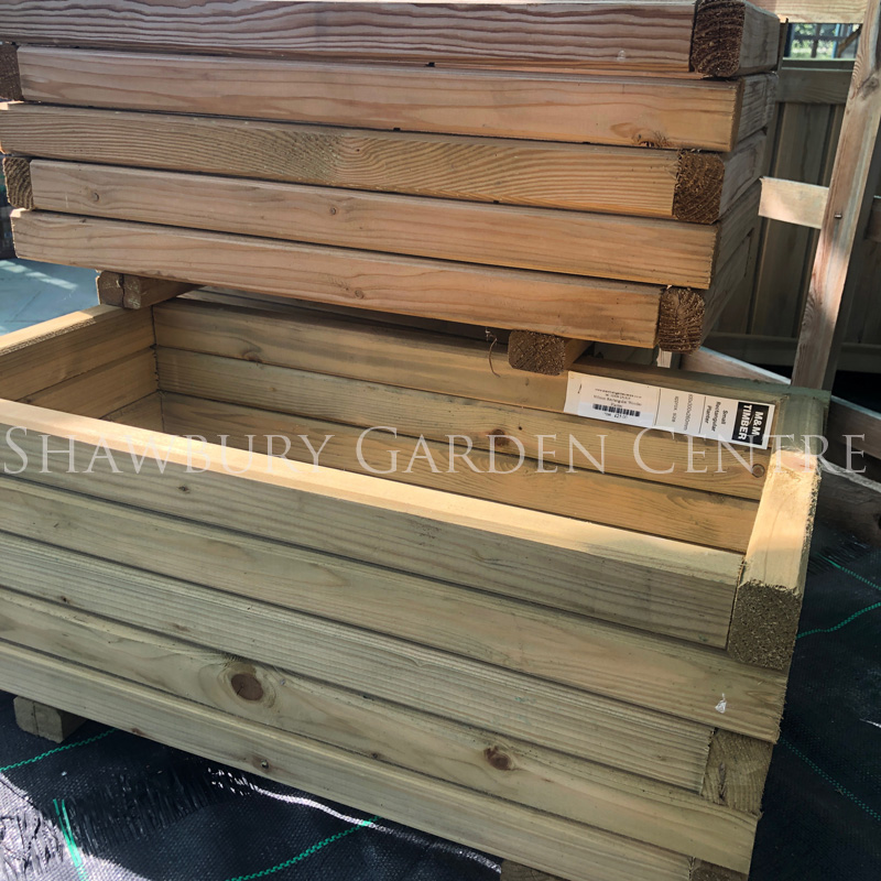 Picture of 300mm Rectangular Wooden Planter