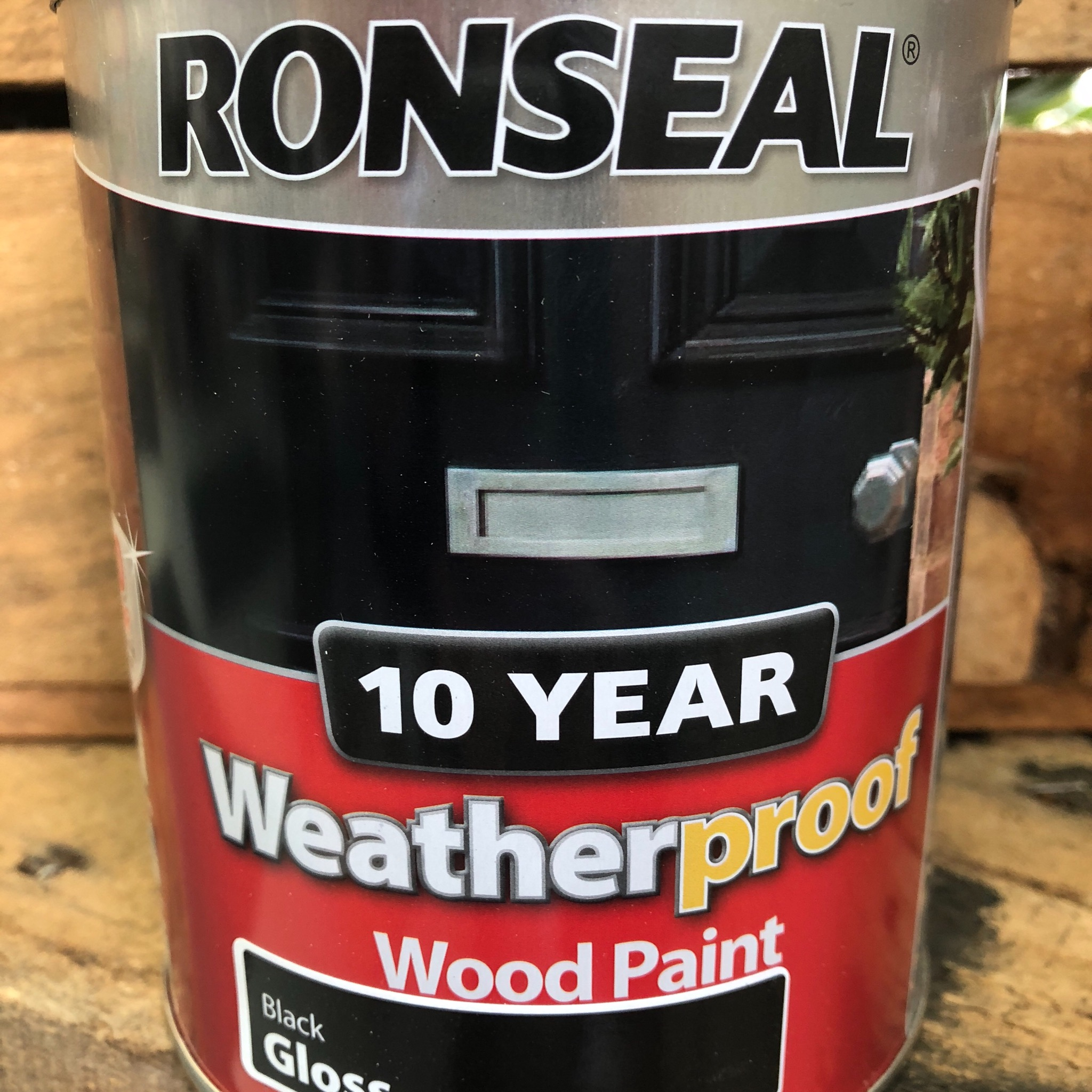Picture of Ronseal Black Gloss Wood Paint