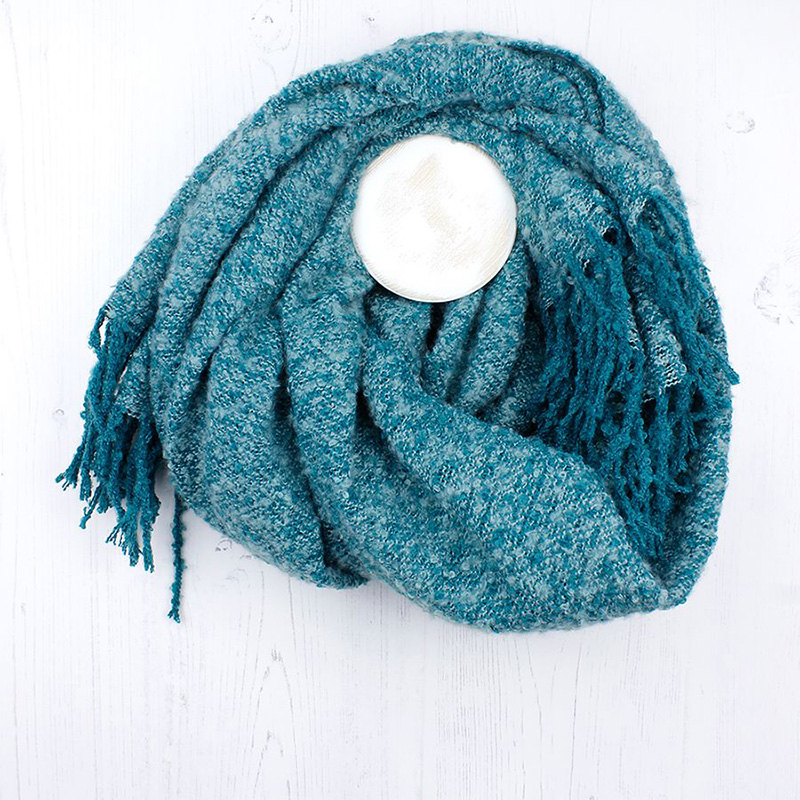 Picture of Aqua Soft Knit Scarf