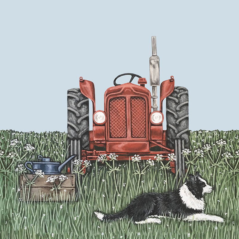 Picture of Sally Swannell 'Tractor' greetings card