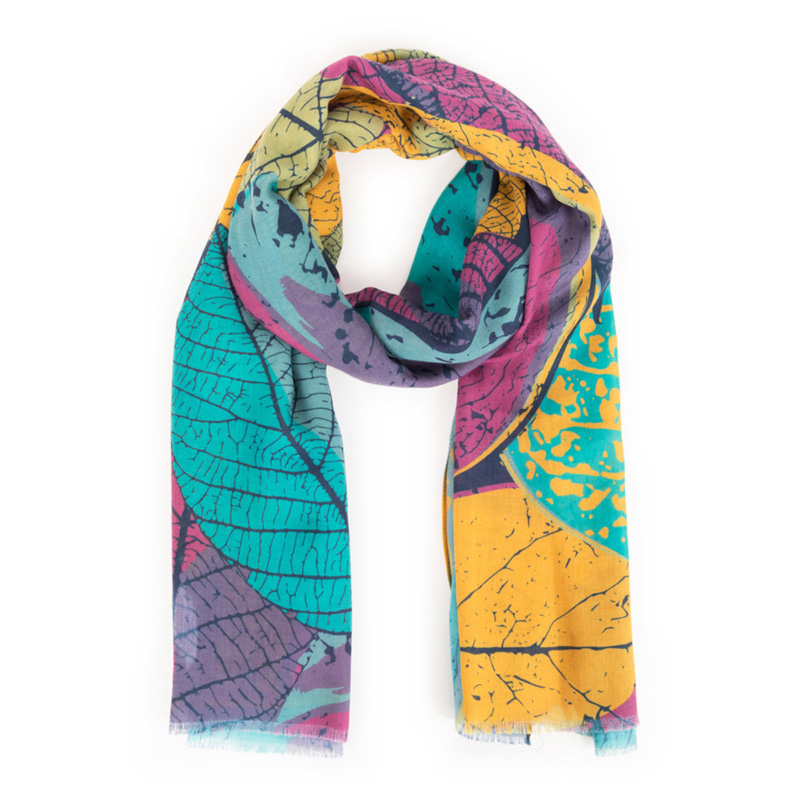 Picture of Powder Leaf Outlines Multi Scarf