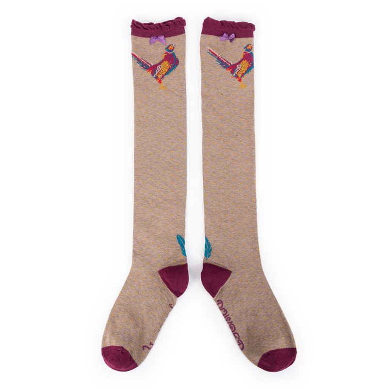 Picture of Powder Pheasant Knee High Socks