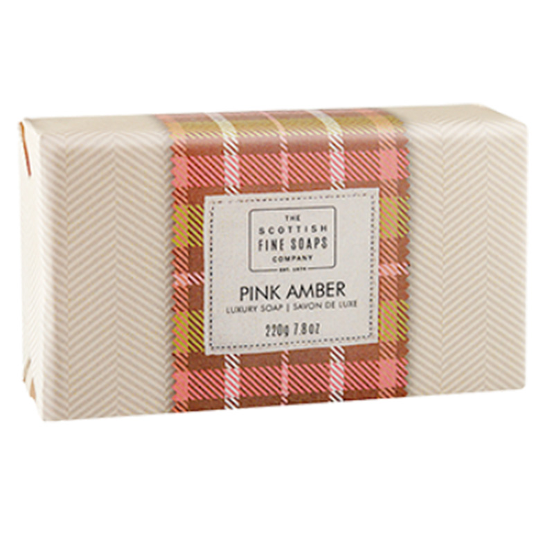 Picture of Scottish Fine Soaps 'Pink Amber' Luxury Soap