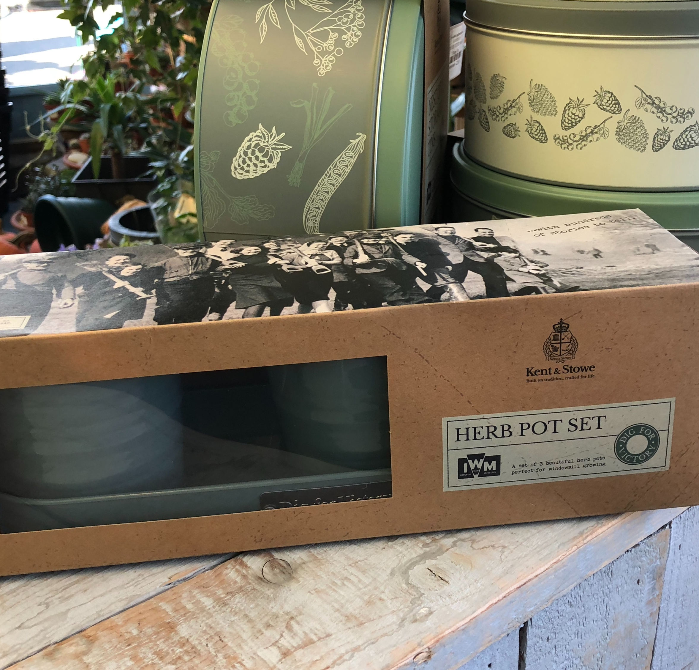 Picture of DIG FOR VICTORY Trio of Herb Planter Tins