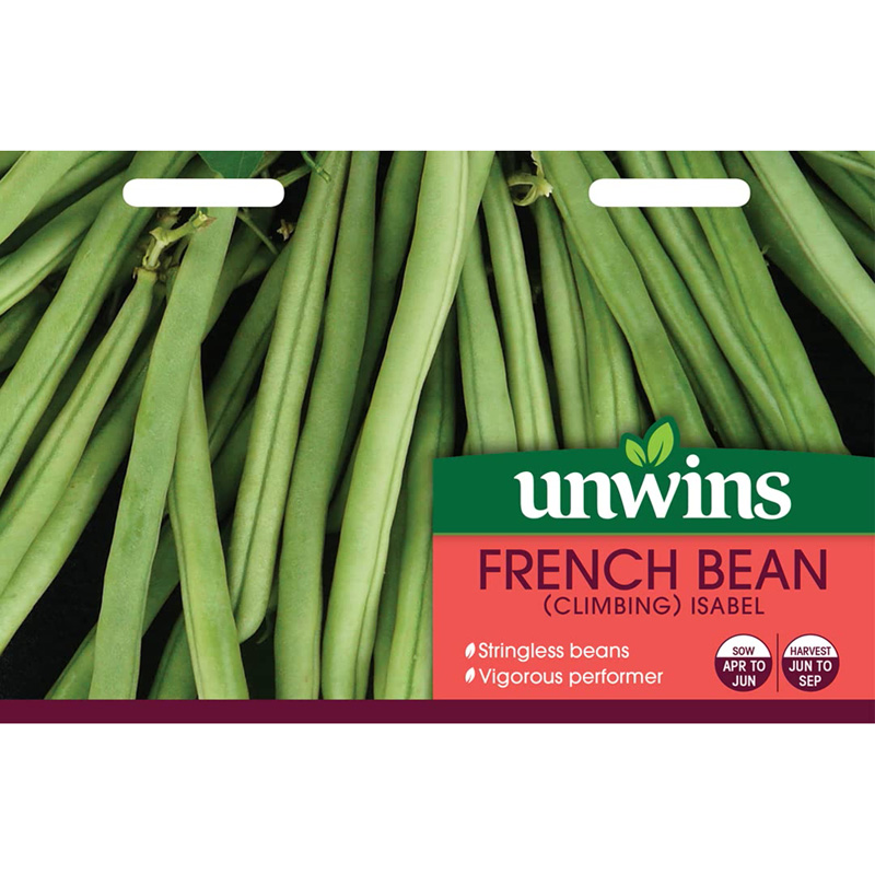 Picture of Unwins Unwins 'Climbing Isabel' french bean seeds