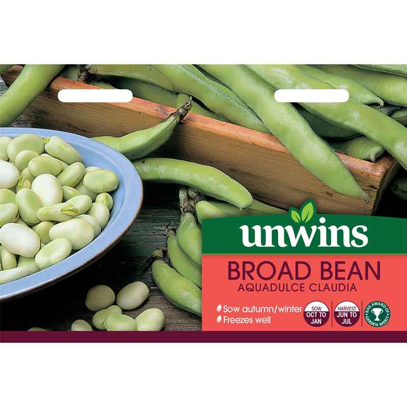 Picture of Unwins BROAD BEAN Aqualdulce Claudia Seeds