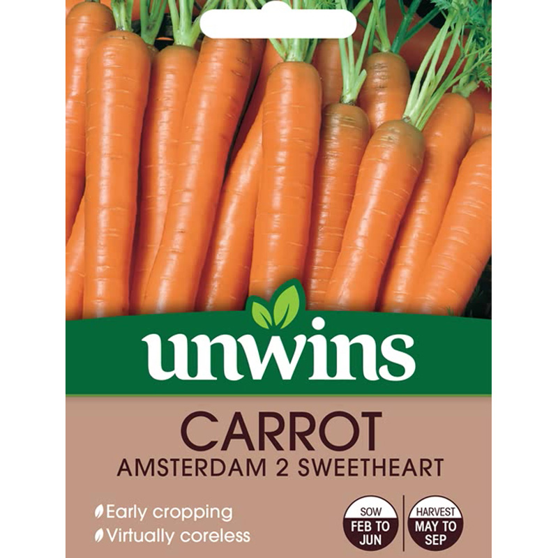 Picture of Unwins CARROT Amsterdam 2 Sweetheart Seeds