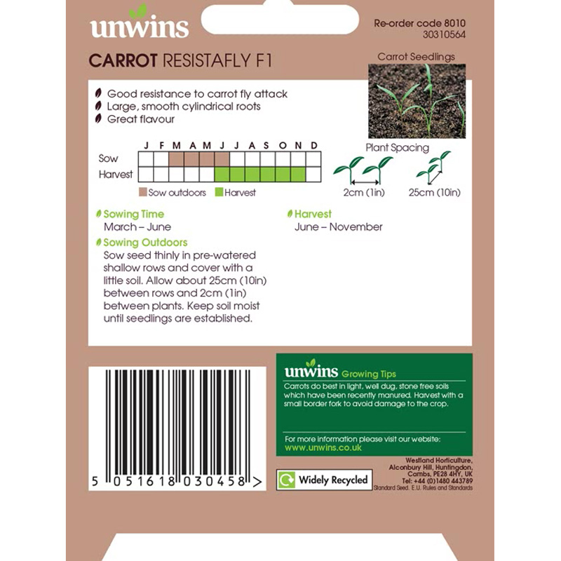 Picture of Unwins CARROT Resistafly Seeds