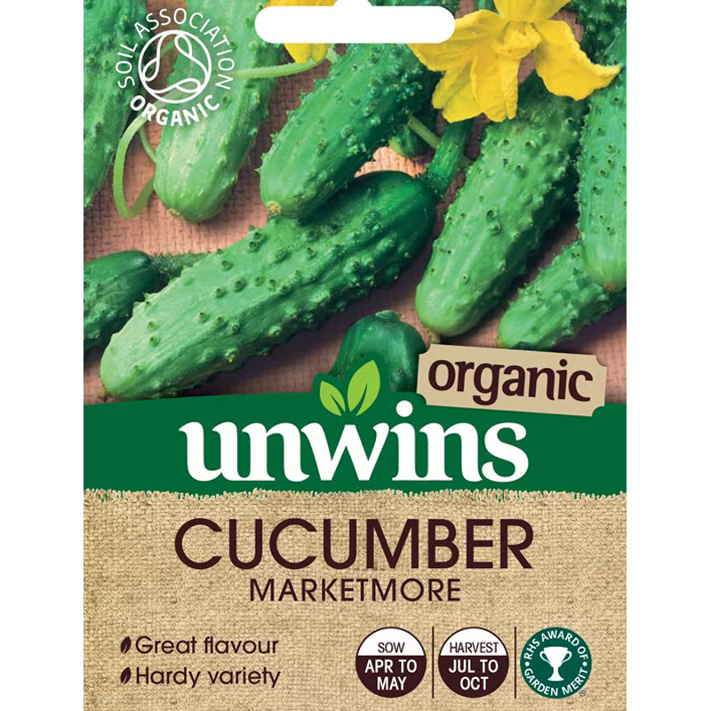 Picture of Unwins Organic CUCUMBER Marketmore Seeds