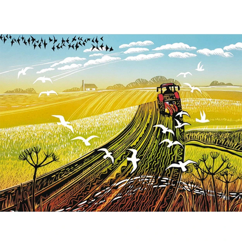 Picture of 'Ploughing The Furrows' by Rob Barnes - blank inside card